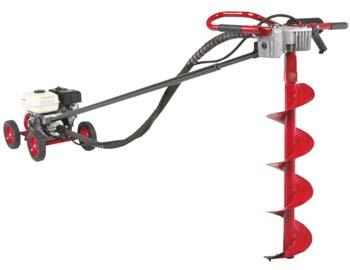 Колесный модульный мотобур с механическим приводом