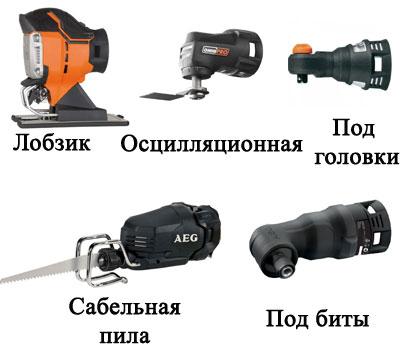 Примеры насадок