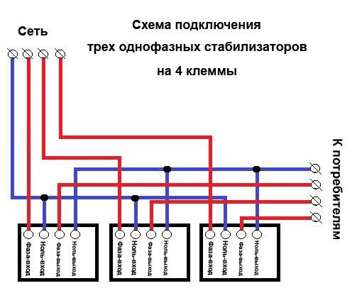 skhema-podklyucheniya-trekh-odnofaznyh-stabilizatorov-na-4-klemmy