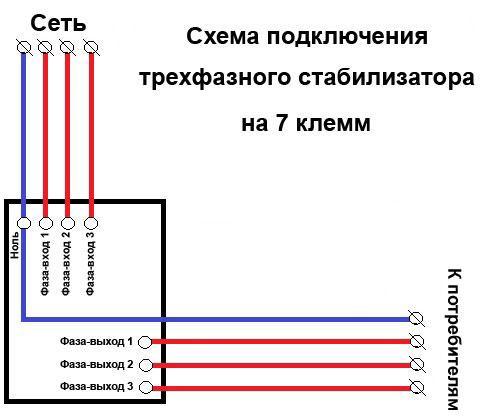 Схемы подключения стабилизаторов напряжения на 380